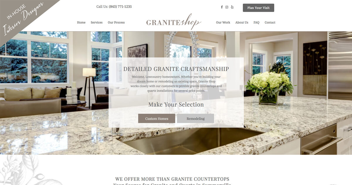 granite countertops summerville granite shop 1148 drop off drive. Black Bedroom Furniture Sets. Home Design Ideas